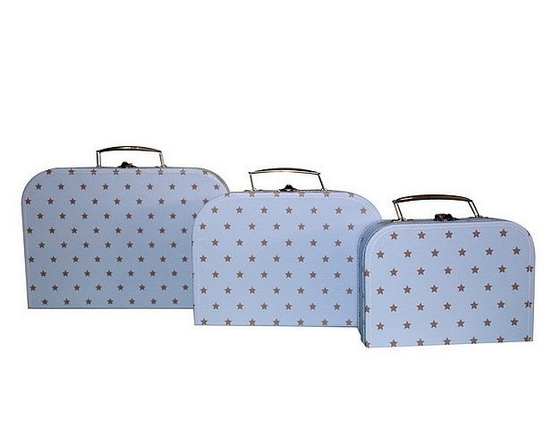 caracaro koffer little star blue in 3 maten babyhuis teuntje pluis. Black Bedroom Furniture Sets. Home Design Ideas